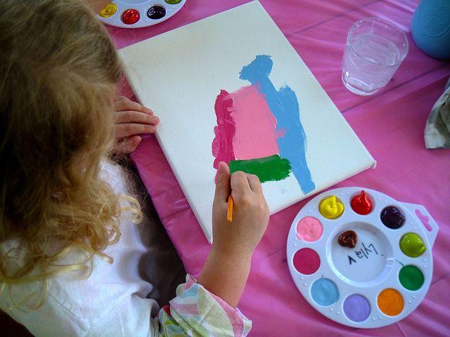 kids paint palette