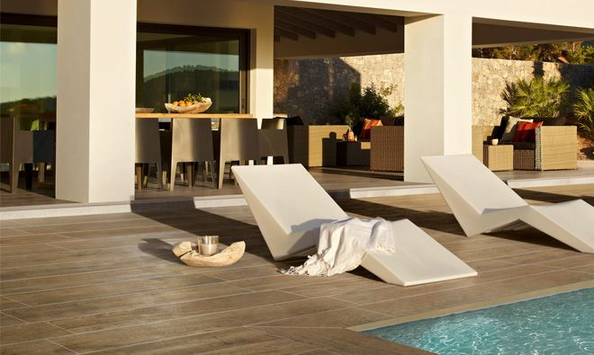 Carrelage Terrasse Extérieure Imitation Parquet Landes Beige ... Terrassen Design Meer Bilder