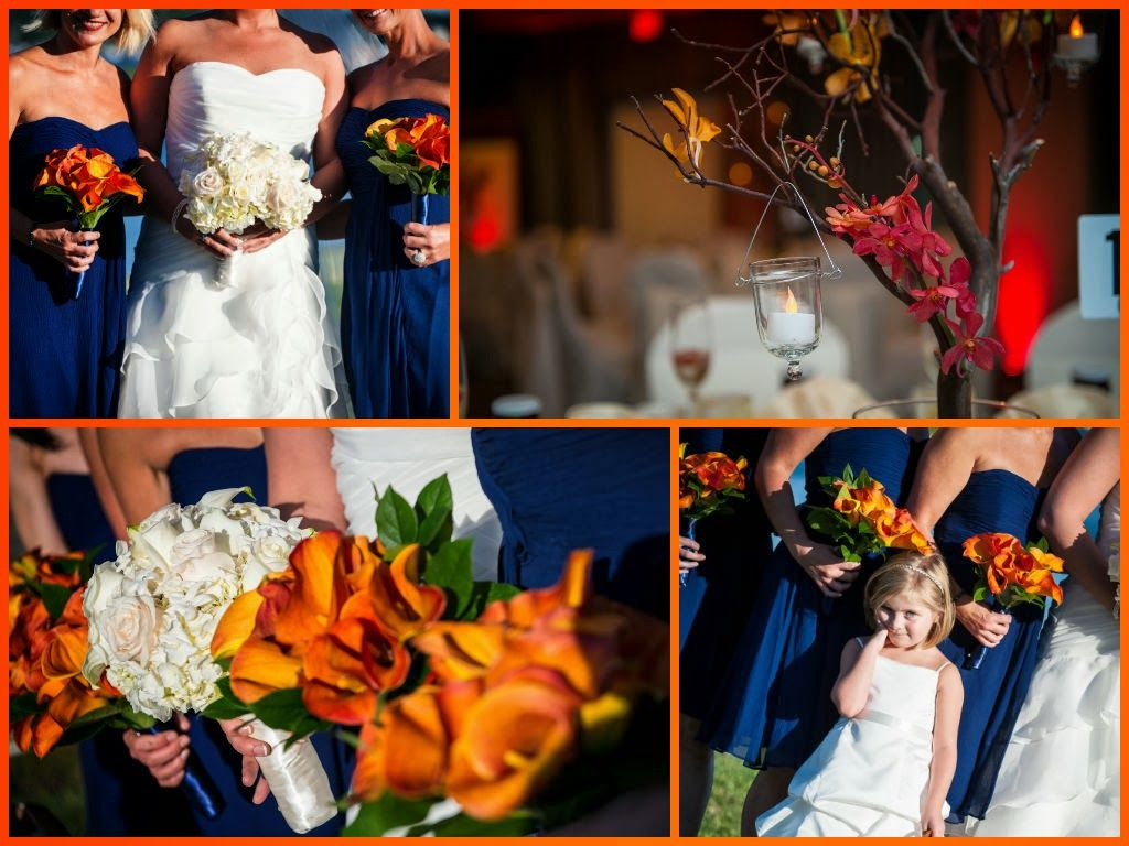 Navy Blue And Orange Wedding Theme Colors M Waterfront Hotel Weddings Royal