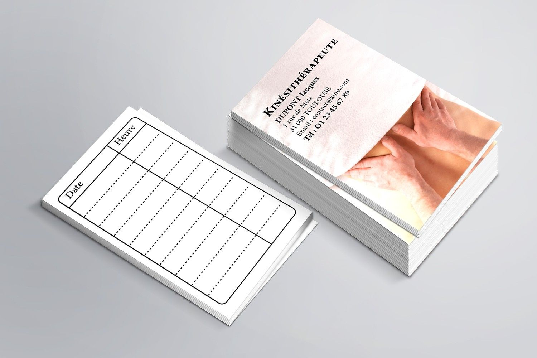 cartes de rdv simples pour kin u00e9sith u00e9rapeutes
