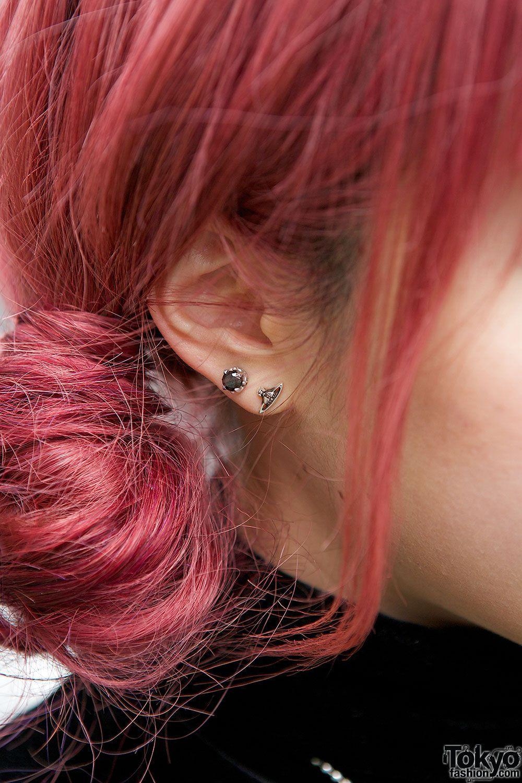 Stud earrings u red earrings everything pinterest red