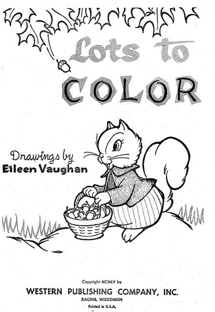 Lots To Color Page 1 Coloring Books Vintage Coloring Books Coloring Book Pages