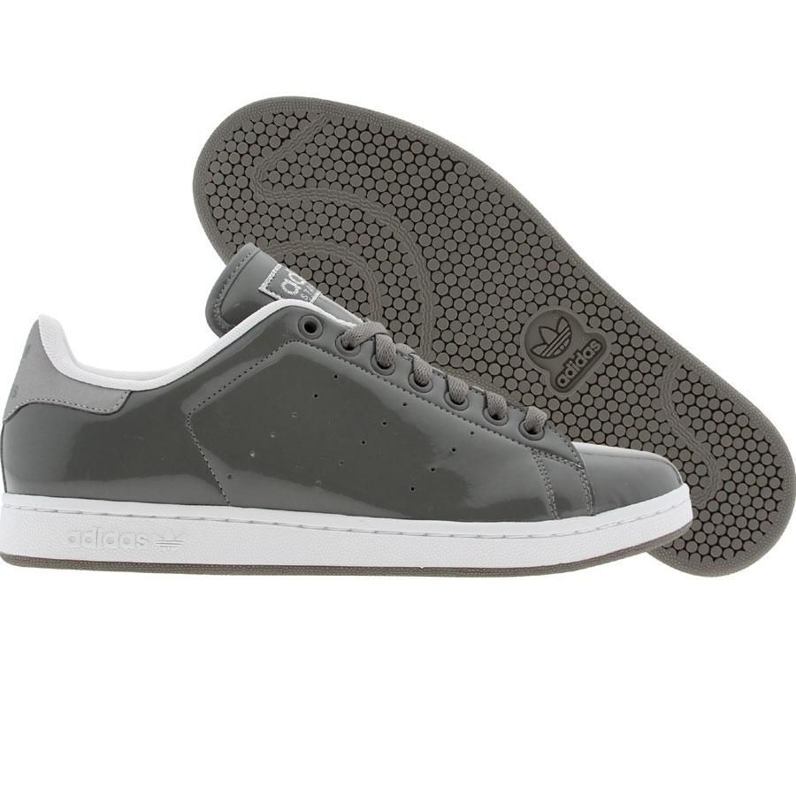adidas stan smith 2 black/white/red leather trainers