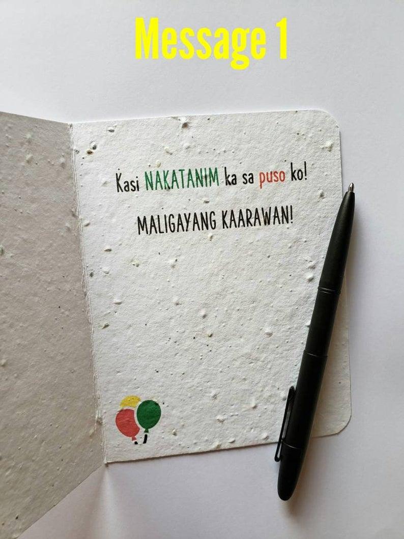 Maligayang Kaarawan Plantable Card Tagalog Pinoy Birthday Etsy In 2021 Cards Funny Birthday Cards Dad Cards