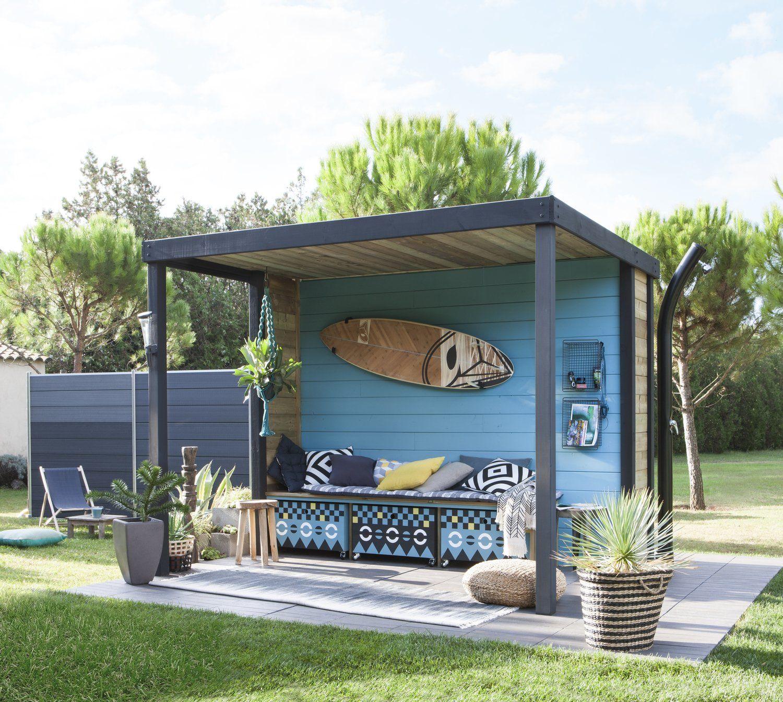 Un abri de jardin, véritable pièce en plus !  Idée aménagement