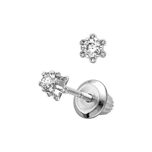 White Gold Child S Diamond Earrings Fred Meyer Jewelers 161 25