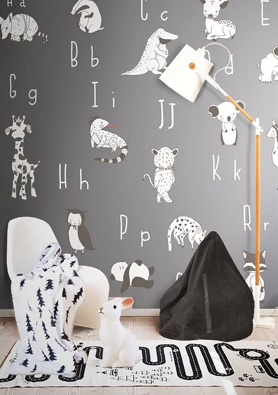 Little Hands Wallpaper Black And White Kids Room