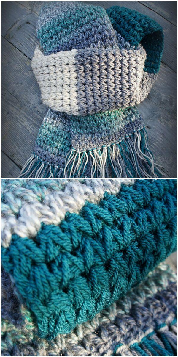 Puff Scarf Crochet #crochetscarves