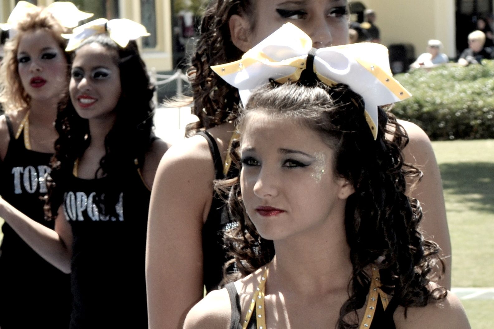 Cheerleader Hair Styles: 17 Best Images About Cheer Hair Curly