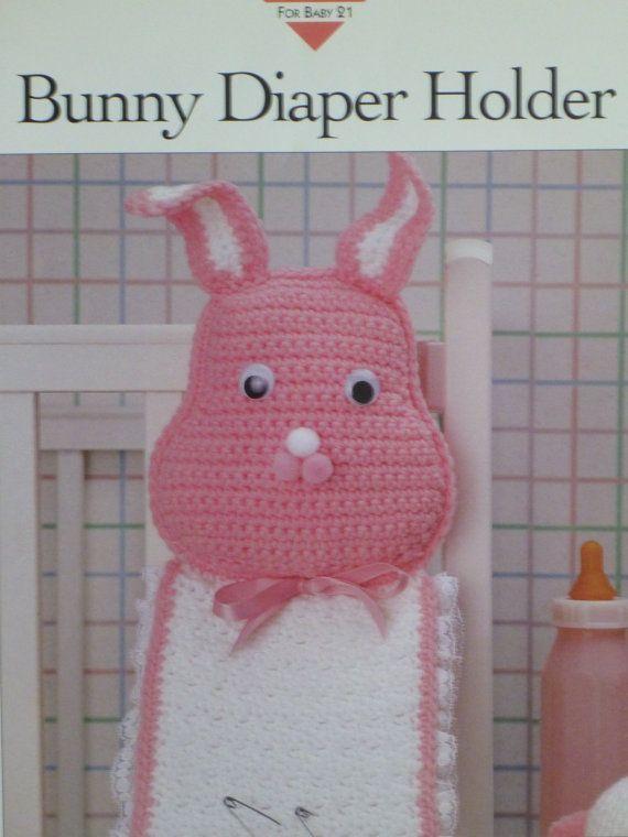 Baby Bunny Diaper Holder Vanna Crochet Pattern//Instructions Leaflet NEW