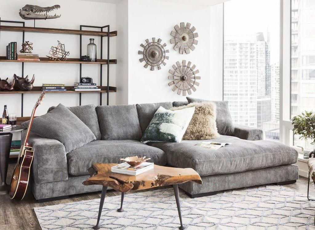 Aurelle Deep Seat Sectional Sofa Product Financing Available