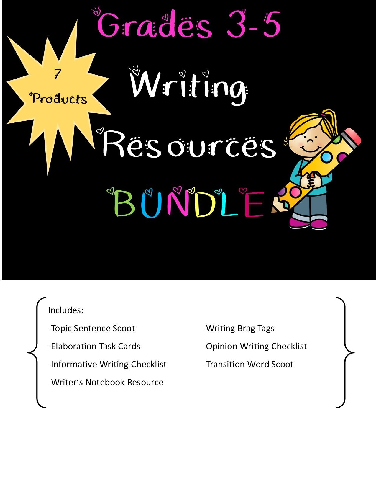 Grades 3 5 Writing Resources To Get Students Engaged
