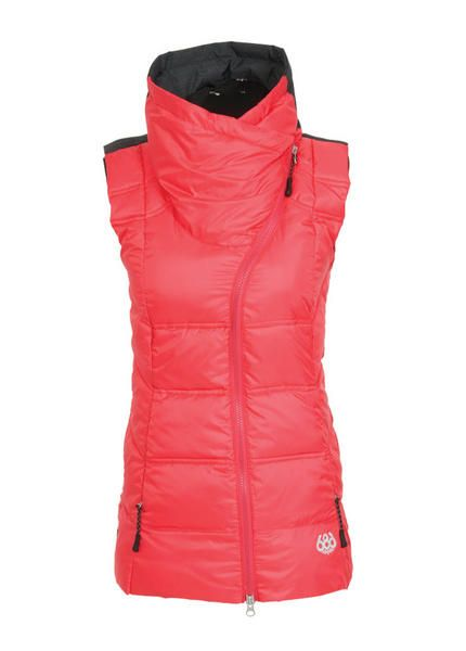 f7558a3254 686 GLCR SERENADE INFILOFT VEST WOMENS SAMPLE 2016 SMALL FUSCHIA CIREKEY  FEATURES 200g Body and 150g Sleeves Polyfill Insulation Front Hood  Adjustment ...