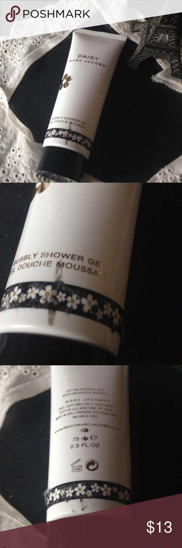 Marc Jacobs daisy shower gel Never used. Like new. 75ml. Only flaws is the package shown. Bundle to save Marc Jacobs Other