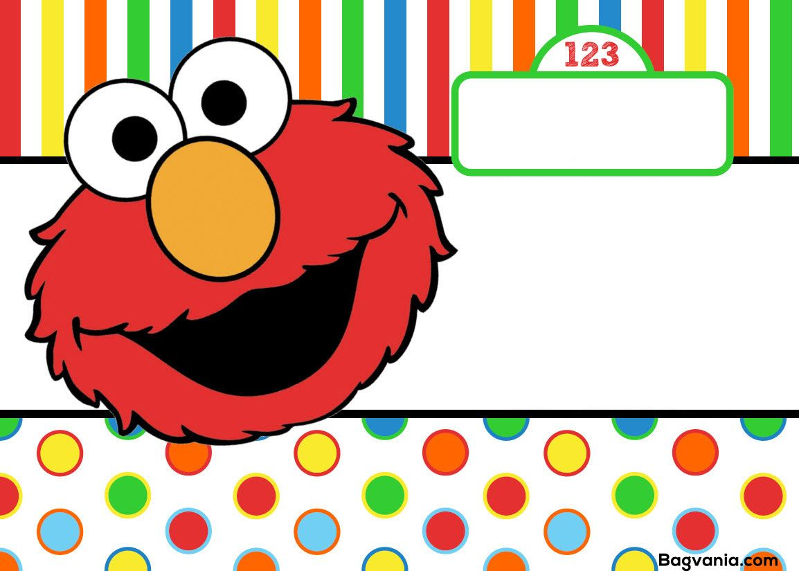 Awesome Free Printable Elmo Birthday Invitations