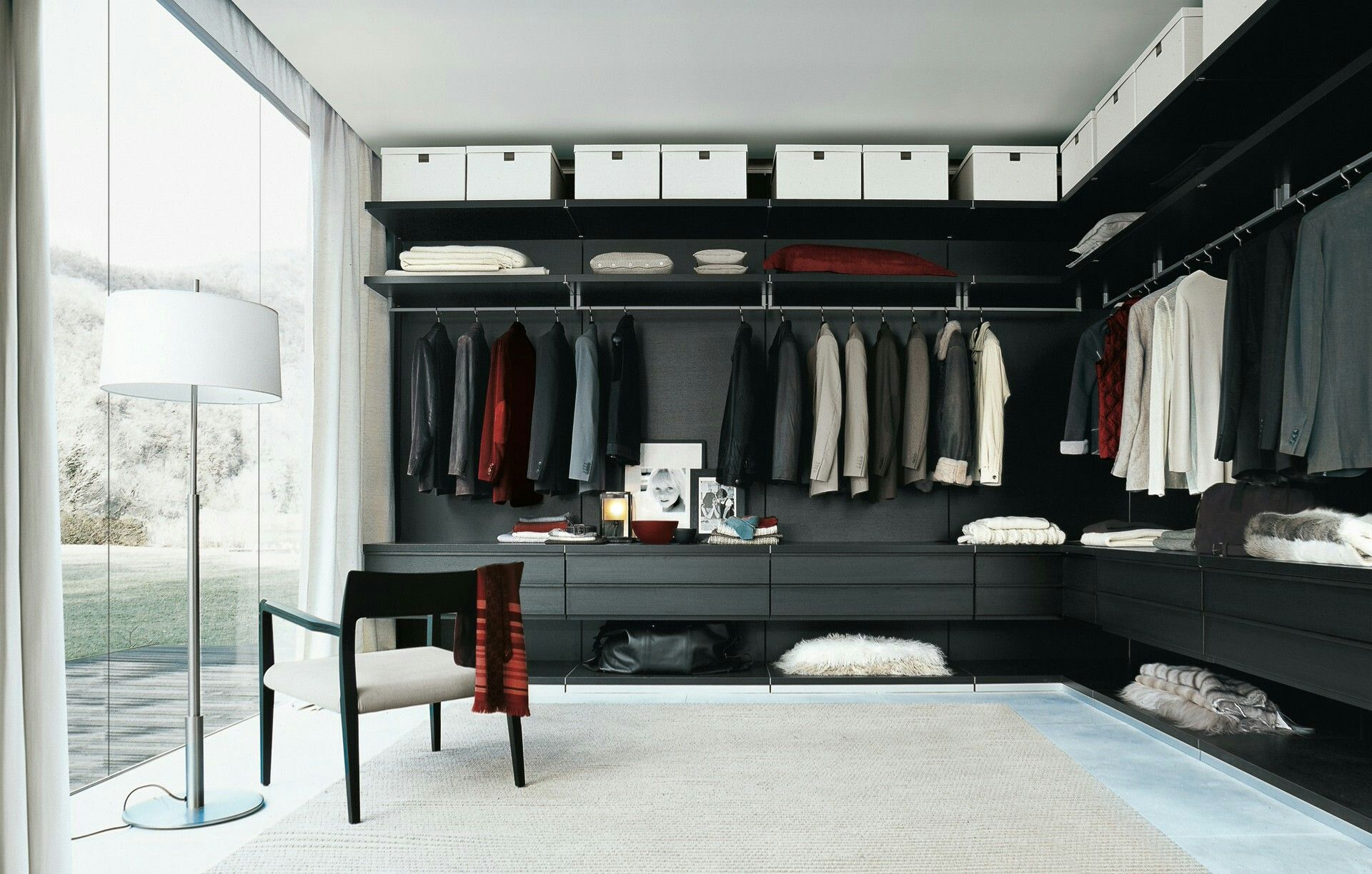 Loft bedroom with walk in wardrobe  Pin by Synergy Interior Designs cc on Inspiration  Closets  Pinterest