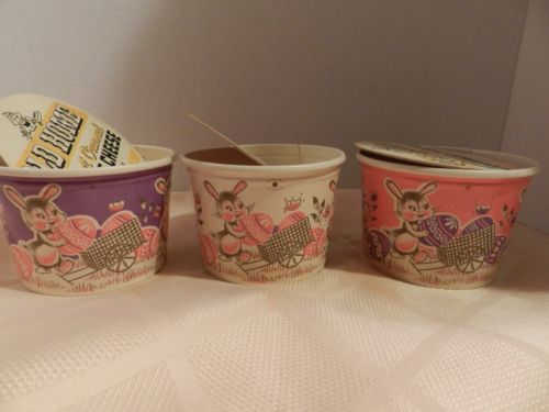 VINTAGE SET OF 3 EASTER OLD HOME COTTAGE . Cottage Cheese