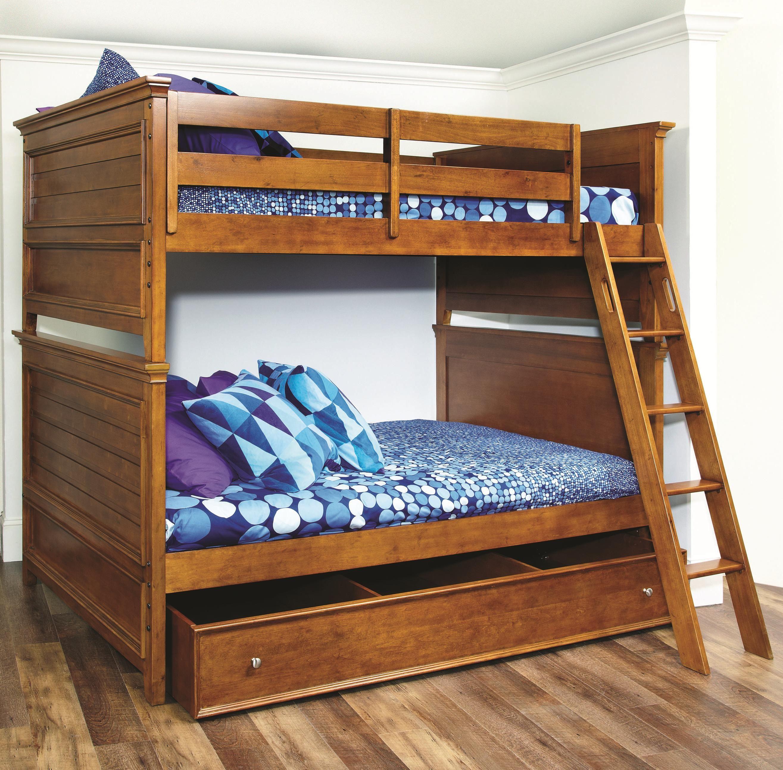 Lea Industries Willow Run Twin Bunk Bed With Trundle Storage Hank Coca S Downtown Furniture San Jose Californi