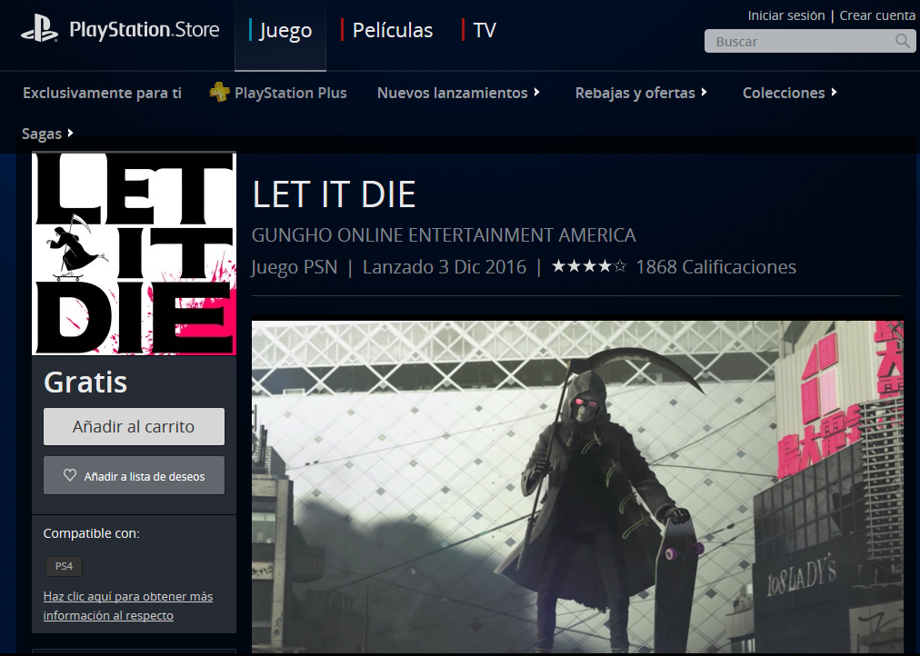 Let It Die Juego Gratis Para Ps4 Gratis Pinterest