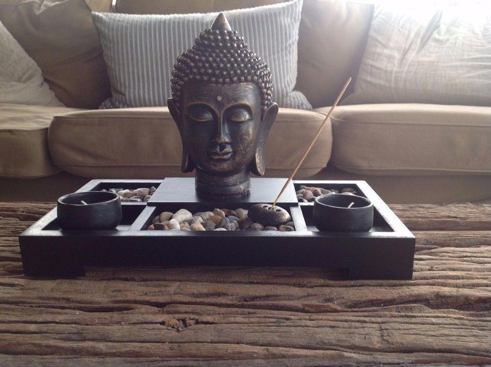 decor tea light candle zen garden buddha decoration feng shui incense holder buddha deko. Black Bedroom Furniture Sets. Home Design Ideas