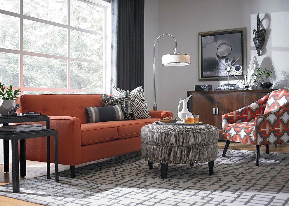 Orange Couch Grey Walls Burnt Orange Living Room Living Room