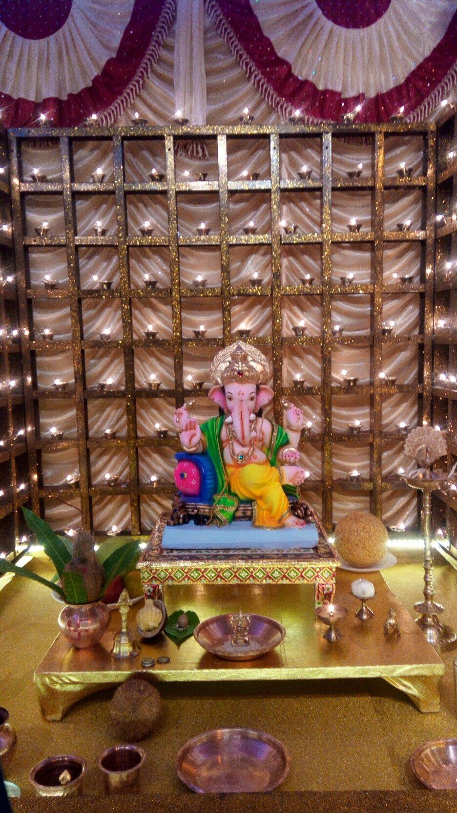 Ganpati Light Decoration Ganesh Chaturthi Decoration Decoration