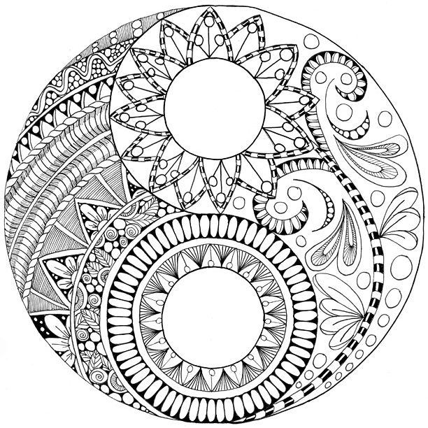 Coloring Pages Yin Yang : A yin yang coloring page in other news i just saw the