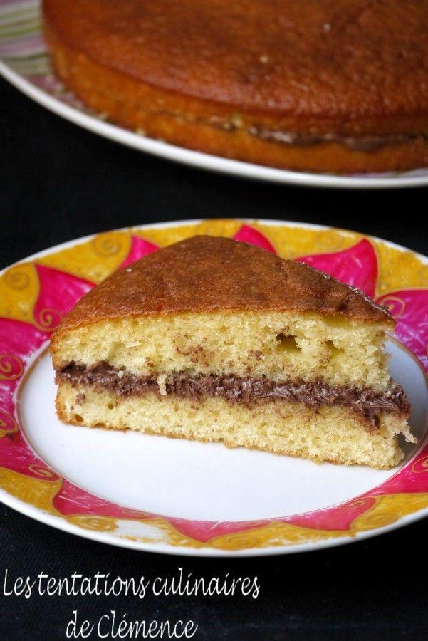 Gâteau Au Yaourt Fourré Au Nutella En 2019 Gourmandises