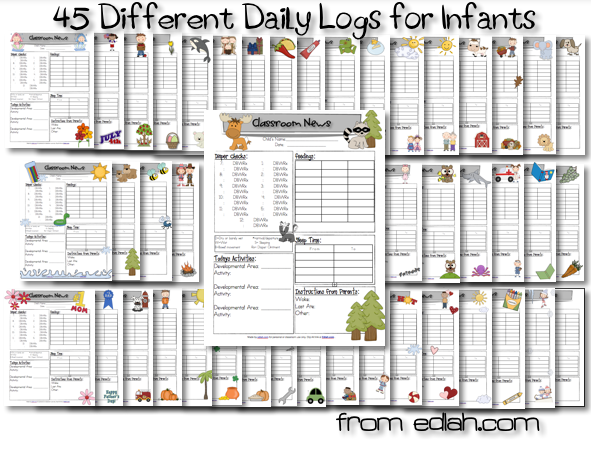 45 different daily logs for infants foster care pinterest