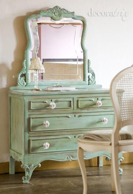 Maravillosa c moda restaurada muebles restaurados - Muebles industriales antiguos ...