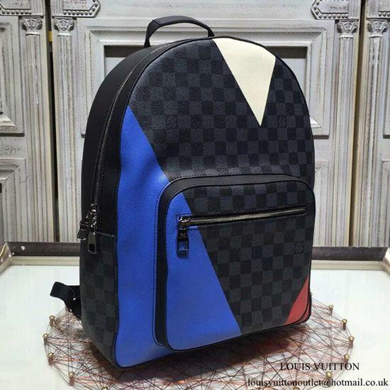 0ccfe4ee4e09f Louis Vuitton N41612 Josh Backpack Damier Cobalt Canvas Louis Vuitton Mens  Bag