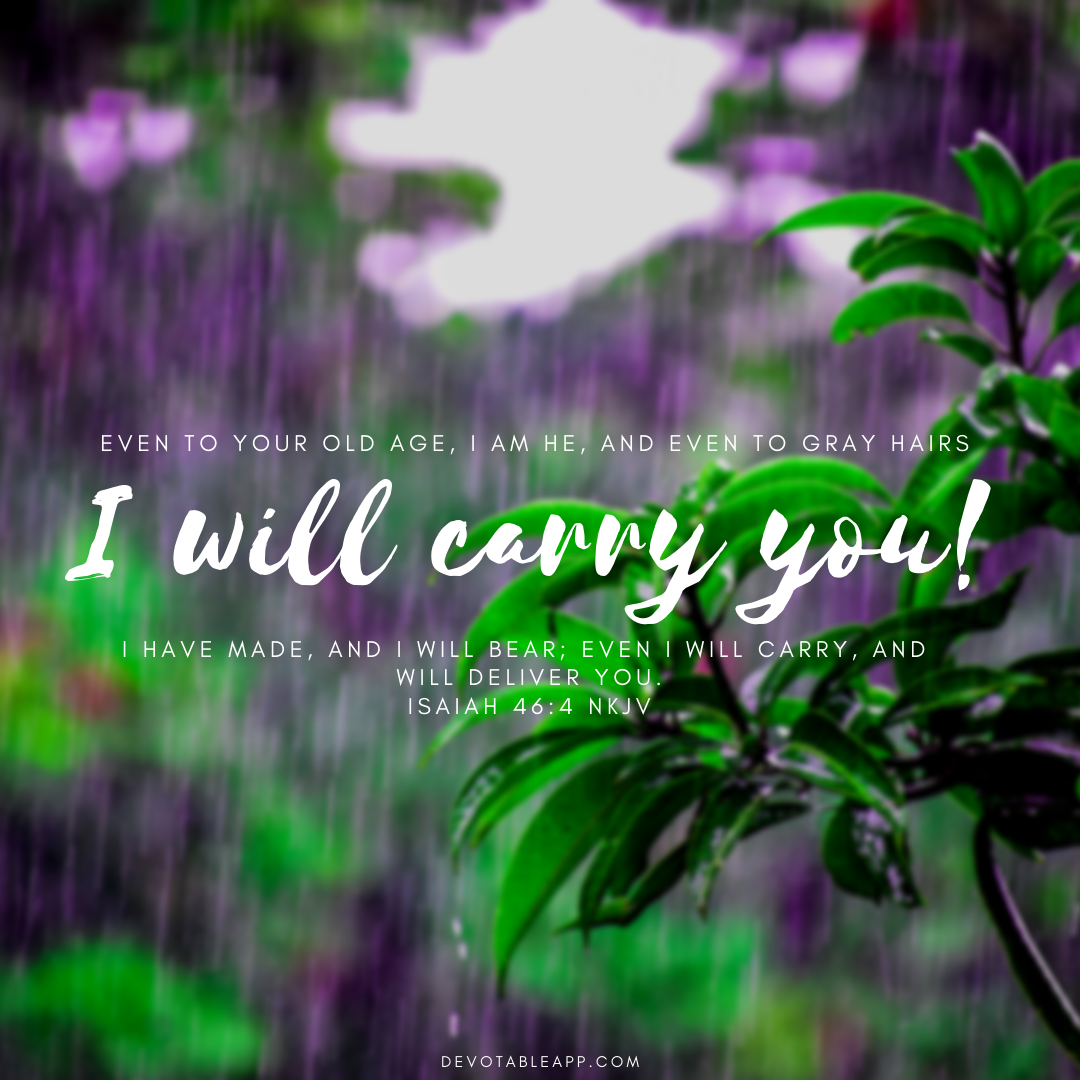 Daily Devotion - Isaiah 46:4 - I Will Carry You (With images ...