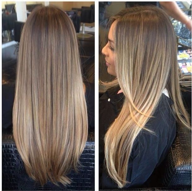 Image result for blonde highlights on brown hair straight