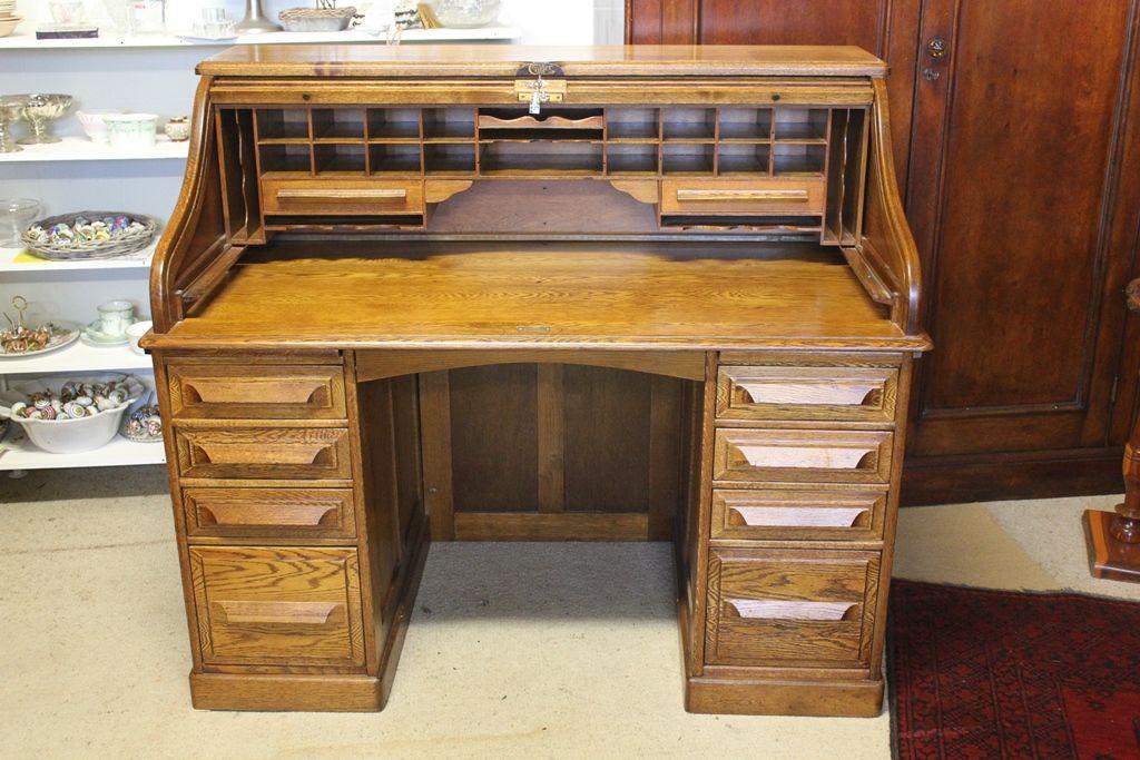 Oak Cutler Roll Top Desk Roll Top Desk Desk Home