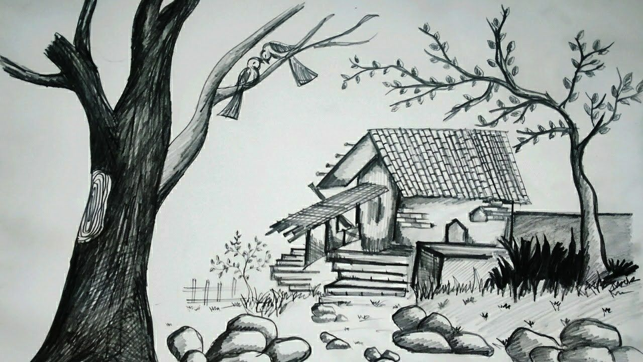 Simple Nature Pictures To Draw