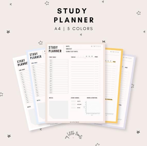 picture relating to Study Planner Printable referred to as Investigate Planner, College student Planner, Review Printable Planner