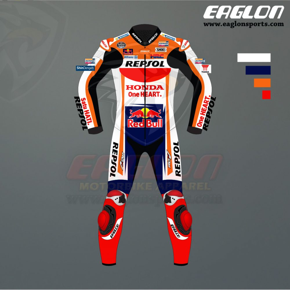 Marc Marquez Honda Repsol Motogp 2020 Leather Suit Eaglon In 2020 Motogp Marc Marquez Honda