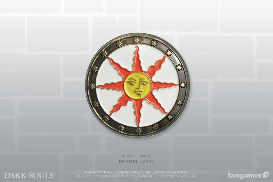 Sunlight Shield Enamel Pin Dark Souls Shield Enamel Pins