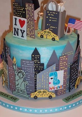 Could bring home with us somehow...NYC Groom Cake