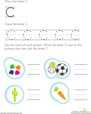 Trace And Write The Letter C  Worksheets Writing Worksheets And