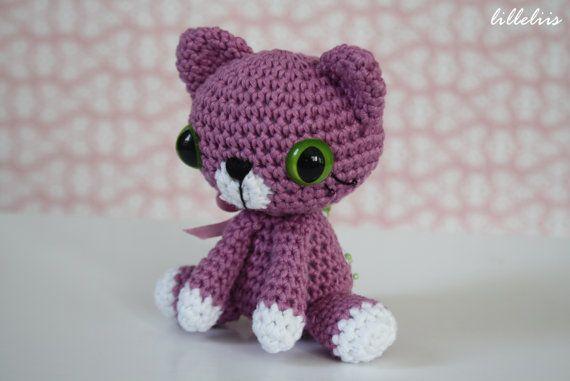 PATTERN Little kitty crochet pattern amigurumi por lilleliis ...
