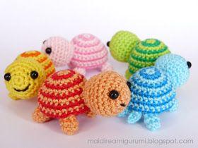Mai Dire Amigurumi: Tartarughine - serie colorata