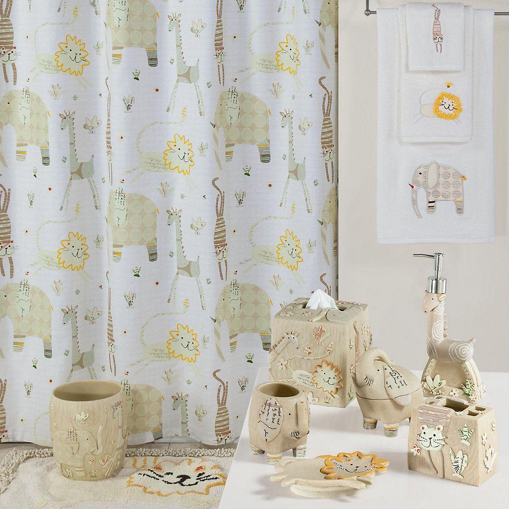 Creative bath animal crackers fabric shower curtain upstairs bath