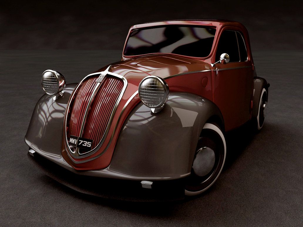 """One of 26 cars nominated for Car of the Century. 520,000 #Fiat 500,  commonly known as """"Topolino"""" were manufactured by Fiat from 1936 to 1955."""