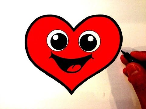 f521e1c30ef How to Draw a Cute Heart Smiley Face - YouTube