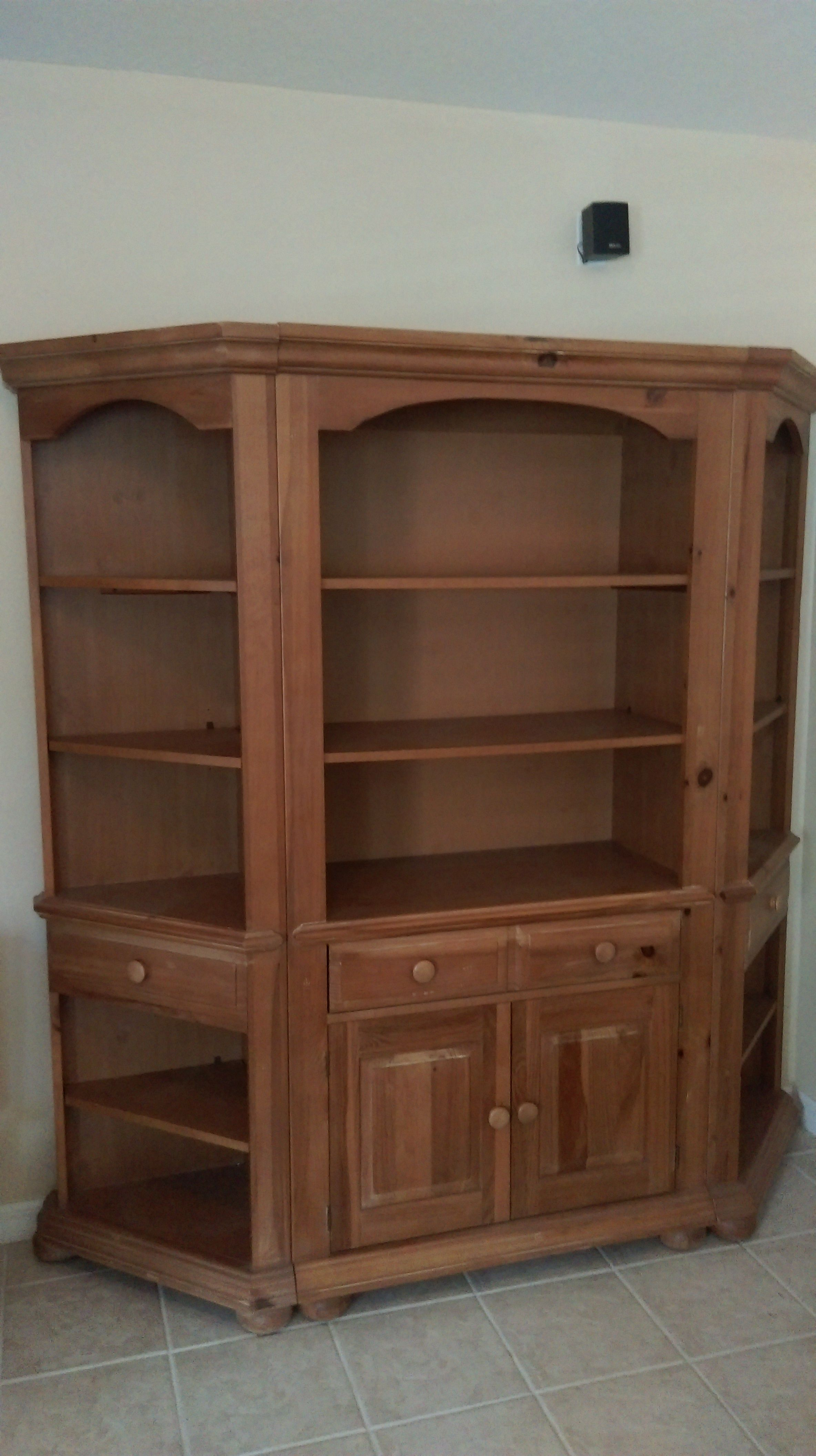 Broyhill Fontana Shelving Unit The Side Shelves Detach And Can Be Used In Corners American Made