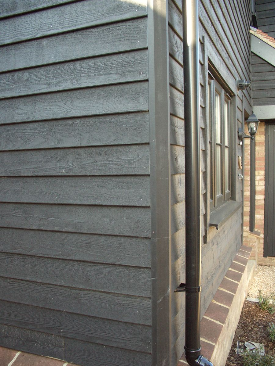 Cape Cod Black 1pce Corner Rebated Bevel Cladding Garden Buildings Cape Cod