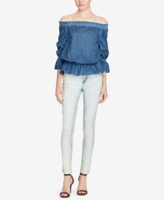 2bd03420 Lauren Ralph Lauren Premier Cropped Skinny Jeans - Blue Haze ...