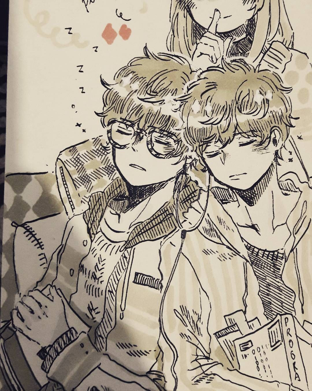 Our favorite twins!! I feel so conflicted about myself lately; so I'm trying to get back to my drawing mood. But it's not that easy...hmph. #Inktober #mysticmessenger #saeyoungchoi #saeranchoi #lucielchoi #marker