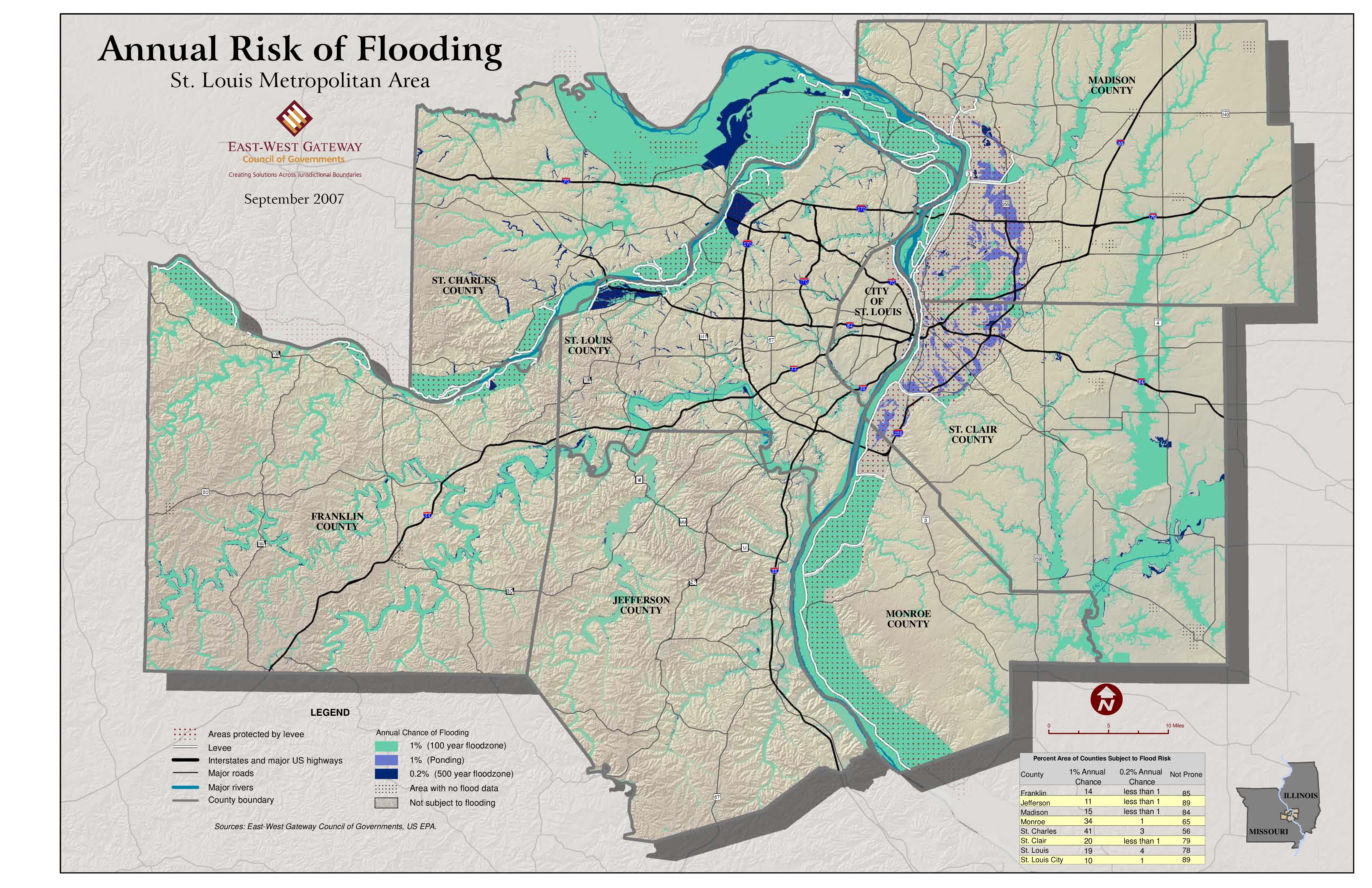 Annual Risk of Flooding, St. Louis Metro | Historical and ... on illinois road work map, illinois watershed map, illinois agriculture map, illinois climate data, illinois tornado map, illinois wind map, illinois precipitation map, illinois schools map, illinois river flooding, illinois flood map, illinois food map, illinois rivers map, illinois temperature map, illinois zoning map, illinois tourism map, illinois earthquake map, illinois weather map, missouri flood risk map, illinois crime map, illinois floodplain map,